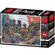 Quebra Cabeça 500 Peças Super 3D Modelo Paris Multikids BR1056