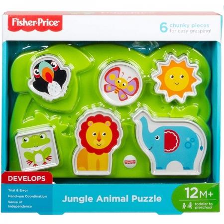 Quebra Cabeça Animais da Floresta Fisher Price Mattel GFR53