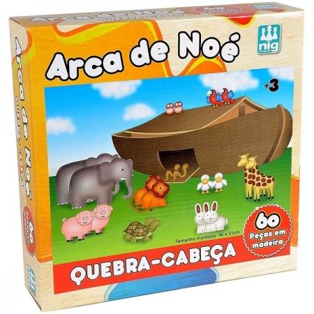 QUEBRA-CABEÇA ARCA de Noe 60 Peças Madeira NIG 0425