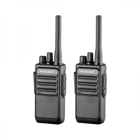 Rádio Comunicador Walkie Talkie Multilaser RE020 16 Canais Preto