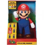Super Mario Boneco Articulado com Som Candide 3009