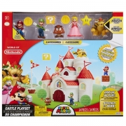 Super Mario Playset Deluxe Mushroom Kingdom Castelo Candide 3018