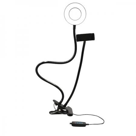 Suporte RING LIGHT Flexivel 9,5W com Clipe Fixador - AC369 Multilaser