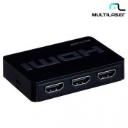 Switch HDMI 3 em 1 Multilaser WI290