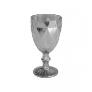 Taca para Vinho SODO-CALCICO 325ML Diamond Cinza Metalizado LYOR 7626