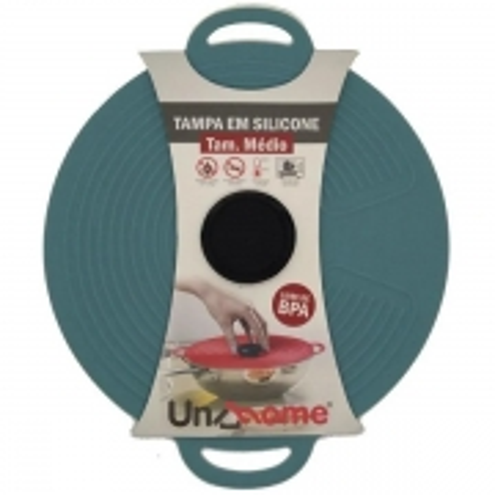 Tampa de Silicone Medio 23CM para Cozinhar Cinza Unyhome SU19333