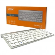Teclado Bluetooth Elite TC501 Prata OEX