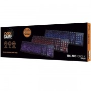 Teclado Gamer FORCE-X ABNT2 LED 3 Cores Oexgame TC201
