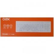Teclado Multimidia com Fio OEX FLAT 104 Teclas TC300 Branco