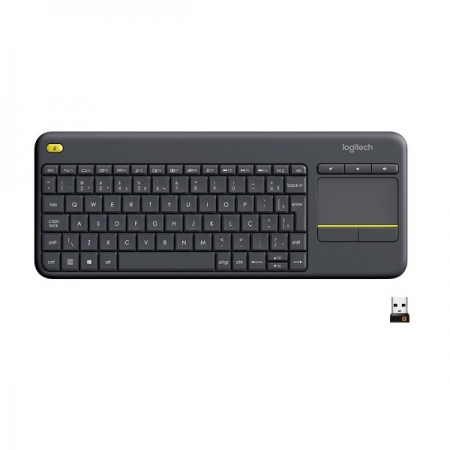 Teclado sem Fio com Touchpad Compativel com SMART TV Logitech K400 920-007125