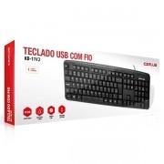 Teclado USB Padrao KB-11BKV2 Preto C3PLUS C3 TECH