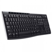 Teclado Wireless Multimidia K270 Preto Logitech - 920-004427