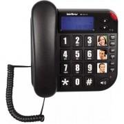 Telefone com Fio TOK Facil com ID Preto Intelbras 4000073