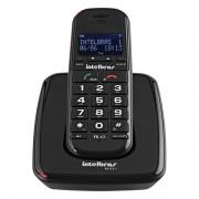 Telefone sem Fio Intelbras com Identificador TS 63 V Preto 4000048