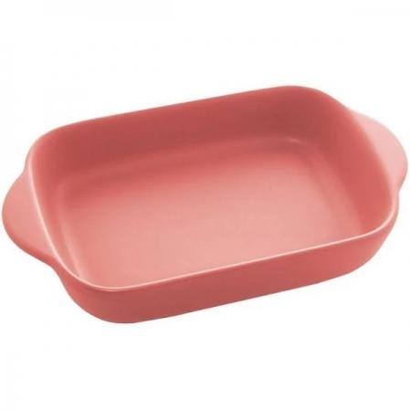 Travessa Porcelana com ALÇAS Nórdica Rosa BON Gourmet 28721