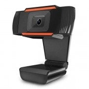 Webcam Brazilpc V5 1.5 720P com Microfone PRETO/LARANJA BOX