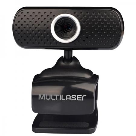 Webcam PLUG e PLAY 480P MIC USB Preto Multilaser WC051