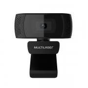Webcam PLUG e PLAY 1080P MIC USB 4K Photos Preto WC050 Multilaser