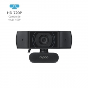 Webcam 720P C200 Preta RA015 Rapoo