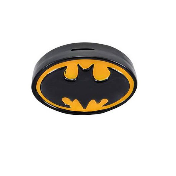 Cofre Ceramica DC Logo Batman PRETO/AMARELO 20 X 6 X 1 26438