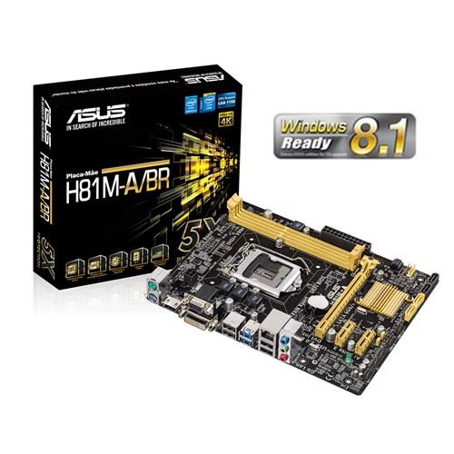 Placa Mae ASUS INTEL LGA 1150 H81M-A/BR