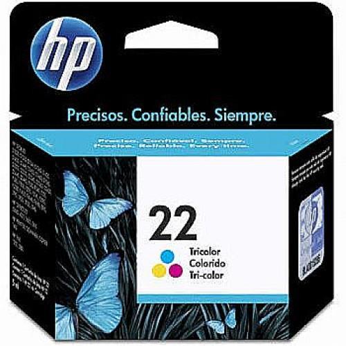 Cartucho HP 22 Jato de Tinta Tricolor 6ML - C9352AB