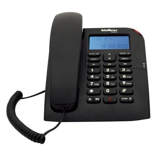 Telefone Fixo com Identificador de Chamadas TC 60 ID Preto Intelbras 4000074