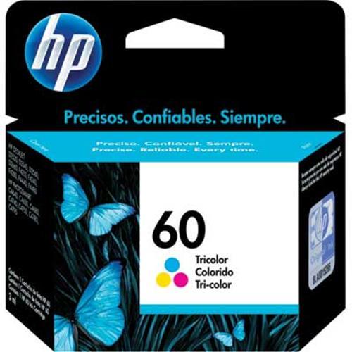 Cartucho HP 60 Jato de Tinta Tricolor 6,5ML - CC643WB