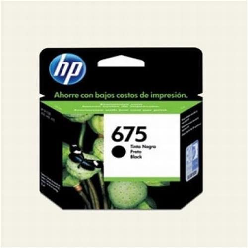 Cartucho HP 675 Jato de Tinta Preto 13,5ML - CN690AL