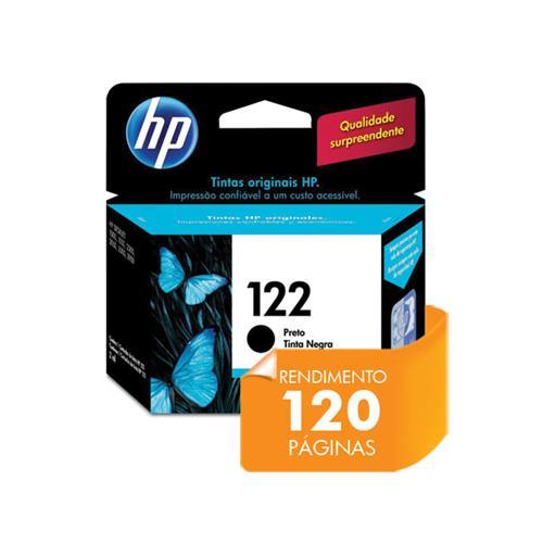 Cartucho HP 122 Jato de Tinta Preto 2ML- CH561HB