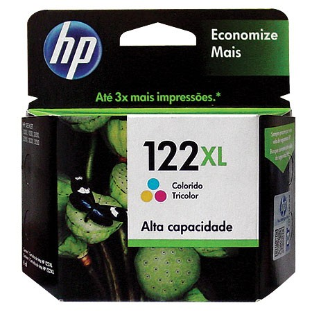 Cartucho HP 122XL Tricolor 7,5ML CH564HB