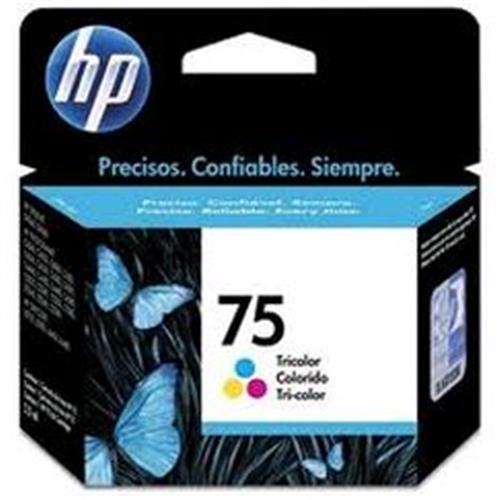 Cartucho HP 75 Jato de Tinta Tricolor 6ML - CB337WB