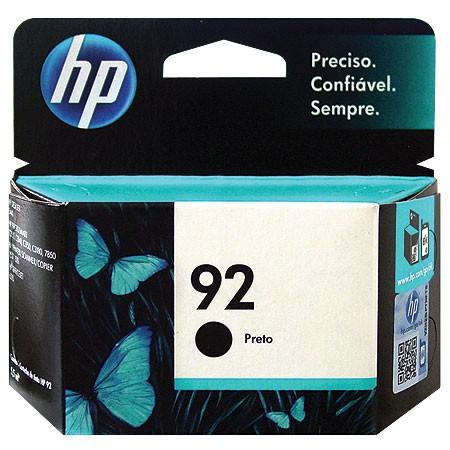 Cartucho HP 92 C9362WB Preto 5,5ML HP PSC 1510/2575/C4180
