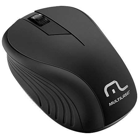 Mouse sem Fio 2.4GHZ Preto USB 1200DPI PLUG AND PLAY Multilaser MO212