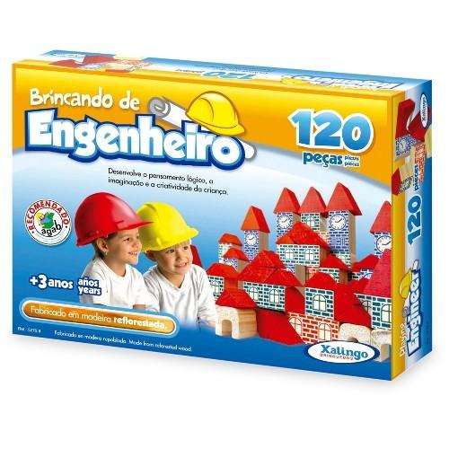 Brincando de Engenheiro 120 Pecas Xalingo 5279.8