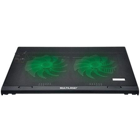 Suporte para Notebook com Cooler Warrior Gamer LED Verde Multilaser - AC267
