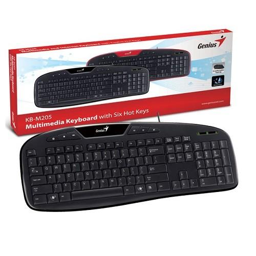 Teclado Genius 31310054114 KB-M205 Preto USB Multimidia