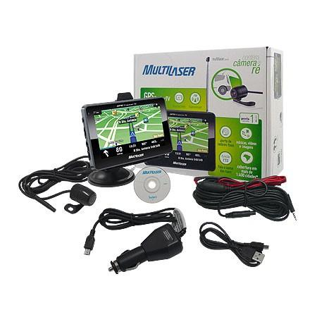 GPS Multilaser Tracker III Tela 4.3 Transmissor FM e Camera de RE GP035