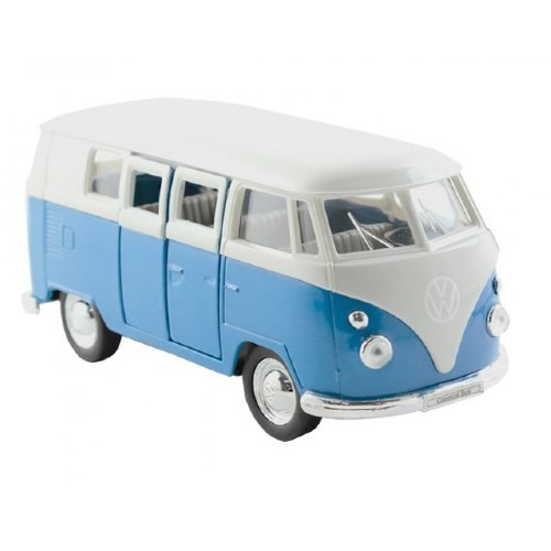 Carrinho WELLY 1963 Volkswagen T1 BUS Escala 1:24 DMC2411 AZUL