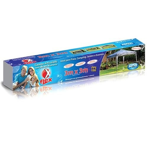 Gazebo X-FLEX AZUL 3,00 X 3,00M MOR 003531