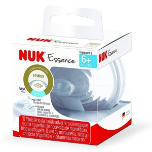 Bico de Silicone ESSENCE S2 6+ Meses Liquido Engrossado NUK PA7011-2U