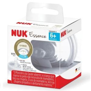 Bico de Silicone ESSENCE S2 6+ Meses Liquido Media Consistencia NUK PA7010-2U