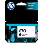 Cartucho HP 670 Preto CZ113AB 7,5ML