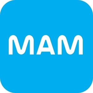Kit com 2 Mamadeiras EASY Active 330ML AZUL MAM 4843