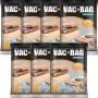 Kit com 7 Sacos À Vácuo VAC BAG Ordene Grande 55X90 Protetor Roupas