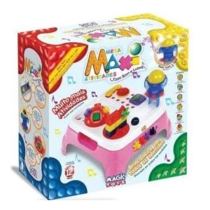 Mesa Maxi Atividades com Som Rosa Magic TOYS 1070L