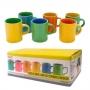 Mini Canecas Bicolor para Cafe 6 Peças CR501 Mimo STYLE 596