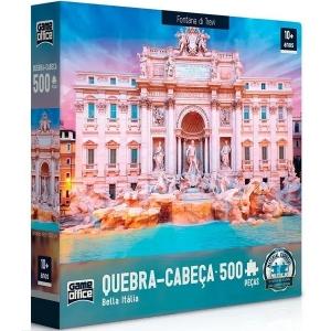 Quebra Cabeça 500 Peças Bella Italia Fontana DI Trevi Game Office 2514