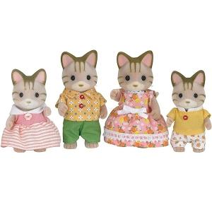 Sylvanian Families Familia dos Gatos Listrados EPOCH Magia 5180