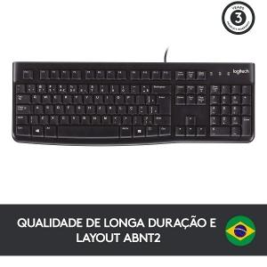 Teclado USB Logitech K120 Preto 920-004423